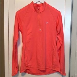 Old Navy Active Neon Coral Quarter Sleeve